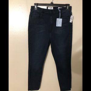 FRAME high waisted Cigarette jeans